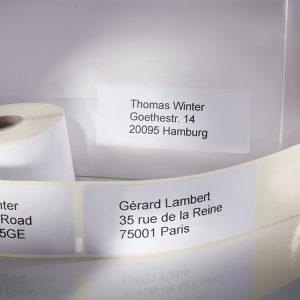 Adresse- og forsendelsesetiketter til etiketprintere
