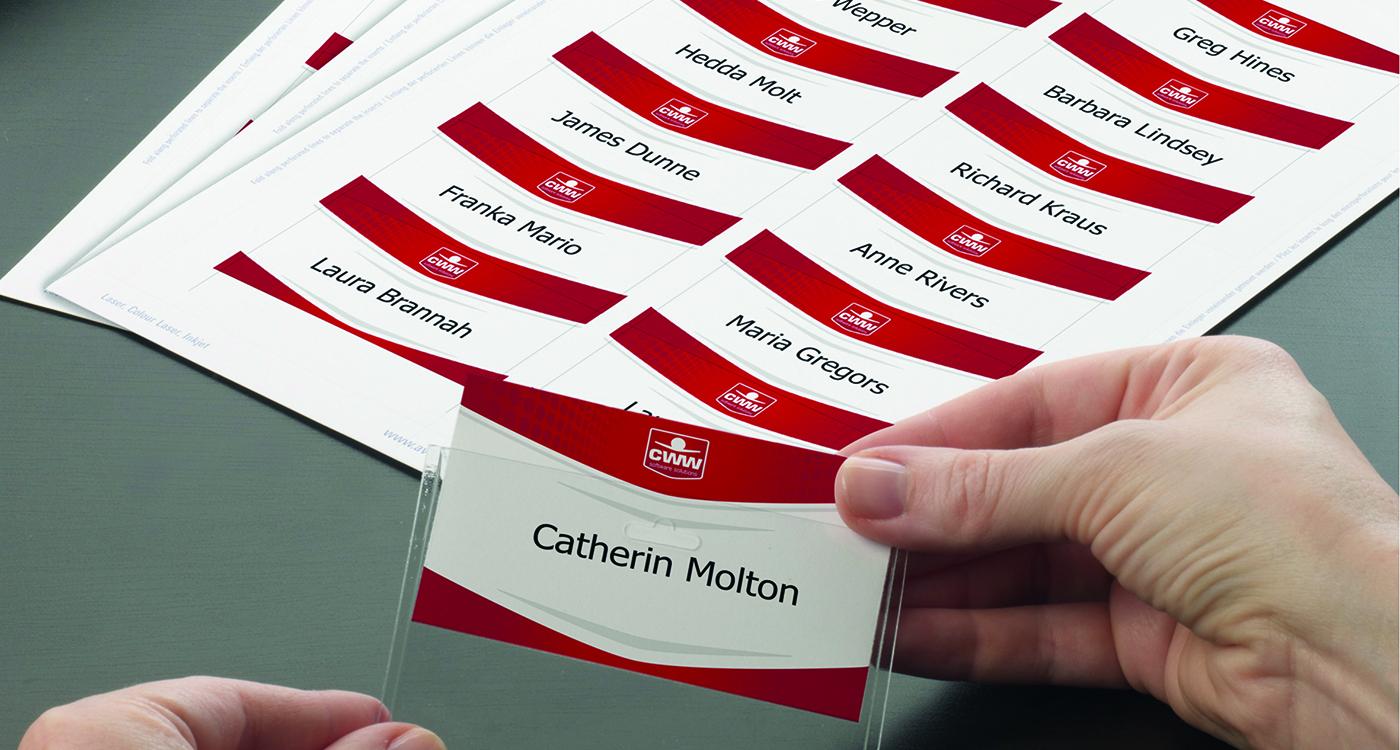 Indstikskort til navneskilte