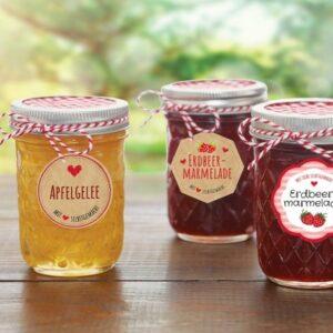 Marmeladeetiketter